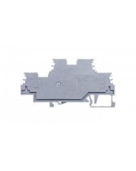 Złączka szynowa 2-piętrowa 1, 5mm2 szara 279-501