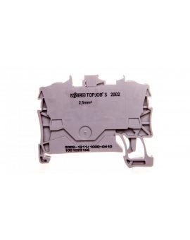 Złączka 2-przewodowa 2, 5mm2 diodowa szara 2002-1211/1000-410 TOPJOBS
