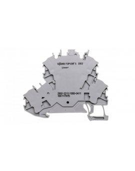 Złączka 2-piętrowa 2, 5mm2 diodowa szara TOPJOBS 2002-2211/1000-411