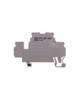 Dwupiętrowa złączka diodowa 2, 5mm2 szara 870-541/281-492