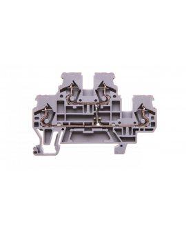 Złączka szynowa 2-piętrowa 2, 5mm2 L / L szara 870-508