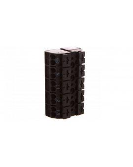 Blok zasilający 5-biegunowy czarny nadruk PE-N-L1-L2-L3 862-1505/999-950 /200szt./