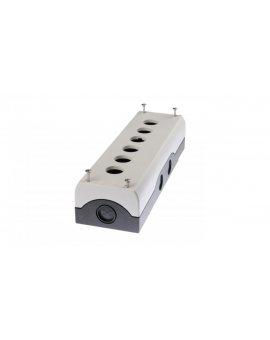 Obudowa kasety 6-otworowa 22mm szara IP67 M22-I6 216540
