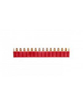 Mostek grzebieniowy do łączenia zacisków A1/A2 max.16 gniazd czerwony 093.16.1.0000000
