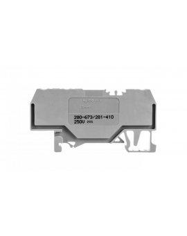 Złaczka diodowa 3-przewodowa 2, 5mm2 szara 280-673/281-410 /100szt./
