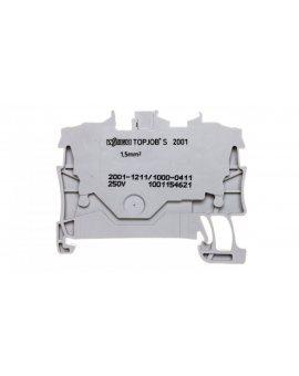 Złączka 2-przewodowa 1, 5mm2 diodowa szara TOPJOBS 2001-1211/1000-411 /100szt./