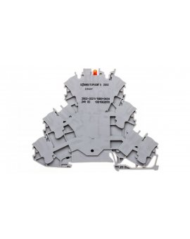 Złączka 3-piętrowa 2, 5mm2 z LED szara TOPJOBS 2002-3221/1000-434 /50szt./