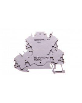 Złączka 2-piętrowa 2, 5mm2 diodowa szara TOPJOBS 2002-2213/1000-487