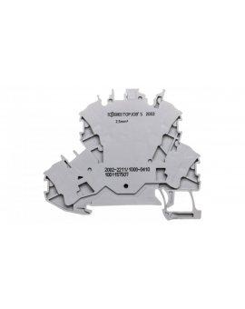 Złączka 2-piętrowa 2, 5mm2 diodowa szara TOPJOBS 2002-2211/1000-410 /50szt./