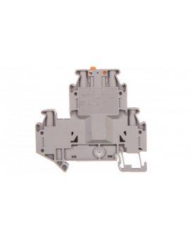 Złączka przelotowa 4-przewodowa z odłącznikiem nożowym 4mm2 szara UTTB 4-MT 3044775