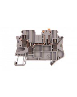 Złączka przelotowa 3-przewodowa z odłącznikiem nożowym 4mm2 szara UT 4-TWIN-MT 3046003 /50szt./