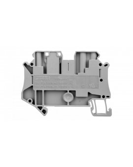Złączka szynowa rozłączalna 3-przewodowa 4mm2 szara UT 4-TWIN-TG 3046595 /50szt./