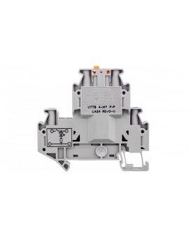 Złączka przelotowa 4-przewodowa z odłącznikiem nożowym 4mm2 szara UTTB 4-MT P/P LA 3046773