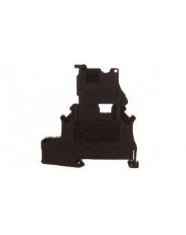Złączka szynowa z bezpiecznikiem 5x20 2-przewodowa 4mm2 czarna LED 250V AC/DC UT 4-PE/HESI LA 250 (5X20) 3070079 /50szt./