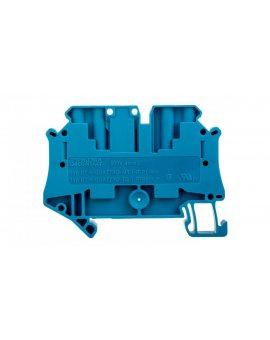 Złączka szynowa rozłączalna 4-przewodowa 4mm2 niebieska UT 4-QUATTRO-TG BU 3073076 /50szt./
