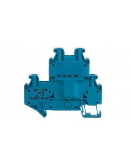 Złączka szynowa elementów kontrolnych 2-piętrowe 4-przewodowa 2, 5mm2 szara UTTB 2, 5-2R BU/NAMUR 3046672 /50szt./