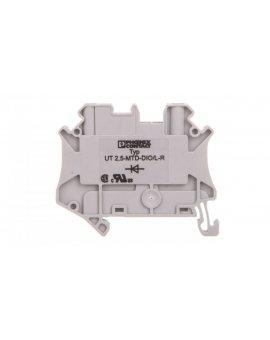 Złączka szynowa elementów kontrolnych 2-przewodowa 2, 5mm2 szara UT 2, 5-MTD-DIO/L-R 3064137 /50szt./