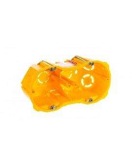 Puszka p/t PK-2x60 głęboka karton-gips bezhalogenowa samogasnąca żółta 0286-00N