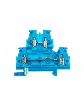 Złączka szynowa 2-piętrowa 4mm2 niebieski VIKING 037108