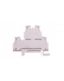 Złączka szynowa 2-piętrowa 4mm2 szara VIKING 037168
