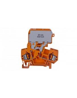 Złączka bezpiecznikowa 4mm2 10A G 5x 20mm bez sygnalizacji przepalenia wkładki pomarańczowa 281-616