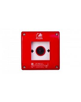 Przycisk ppoż. natynkowy 1Z 1R czerwony zwalniany samoczynnie bez sygnalizacji OP1-W01-A\11