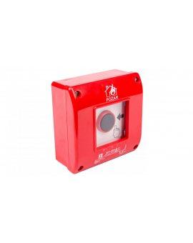 Przycisk ppoż. natynkowy 1Z 1R czerwony OP1-W01-B\11
