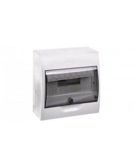 Rozdzielnica modułowa 1x8 natynkowa IP40 drzwi transparentne Easy9 EZ9E108S2S