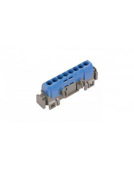 Listwa przyłączeniowa 8-otworów niebieska IP2xN-8 004842