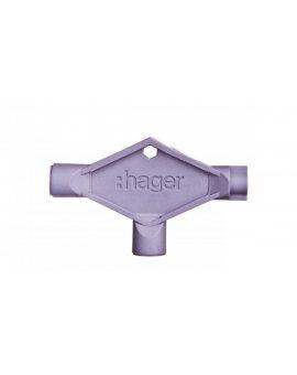 Klucz uniwersalny plastikowy do wkładek: trójkąt/czworobok/dwupiórkowy (czworokąt 8x8mm) FL99Z