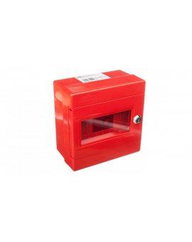 Szafka do wyłącznika p.poż. 1x3 moduły natynkowa czerwona ALFA 3Z 5-406