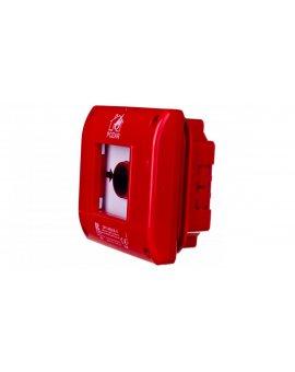 Przycisk ppoż. podtynkowy 1Z 1R czerwony OP1-W02-B\11