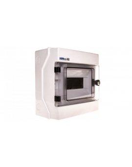 Rozdzielnica hermetyczna modułowa (500V AC , 1000V DC) 1x8 z zamkiem natynkowa IP65 RH-8/Z 36.9