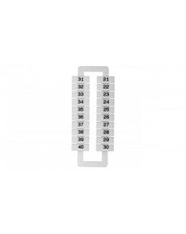 Oznacznik do złączek szynowych 2, 5-70mm2 /21-40/ biały 43192 (20szt.)