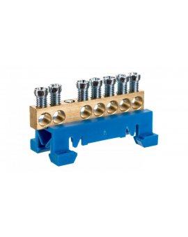 Zacisk przyłączeniowy na TS35, neutralny N, 7-polowy, 7x16mm2 870N/7 n