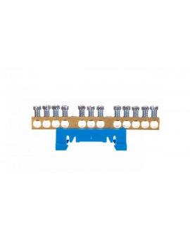 Zacisk przyłączeniowy na TS35, neutralny N, 12-polowy, 12x16mm2 870N/12 niebieski 89812003