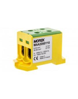 Złączka szynowa 2-przewodowa 6-95mm2 żółto-zielona T022095.YG MAA2095Y10 89735009