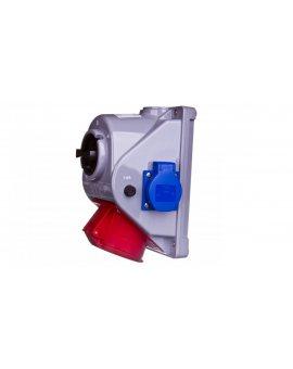 Gniazdo stałe z wyłącznikiem L-0-P 32A 5P 400V + 2x 2P+Z 230V IP44 COMBO-POL 960625421W