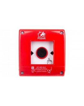 Przycisk ppoż. natynkowy 2Z 1R czerwony OP1-W01-B\21
