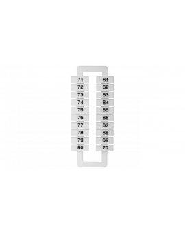 Oznacznik do złączek szynowych 2, 5-70mm2 /61-80/ biały 43192 (20szt.)