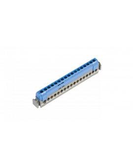 Listwa przyłączeniowa 17-otworów niebieska IP2xN17 004845