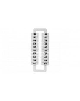 Oznacznik do złączek szynowych 2, 5-70mm2 /41-60/ biały 43192 (20szt.)