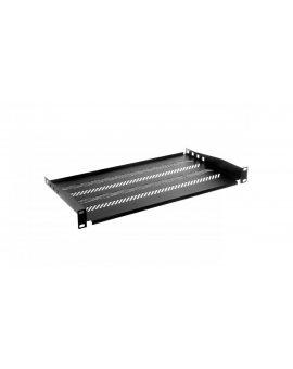 Półka 19 cali 1U G/250 czarna (RAL 9005) TN-19-250-1U-BK