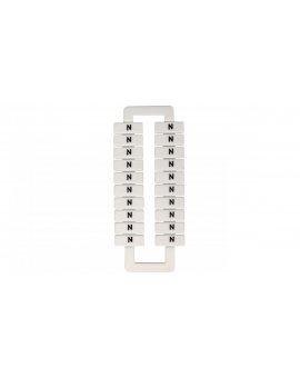 Oznacznik do złączek szynowych 2, 5-70mm2 /N/ biały 43192 (20szt.)