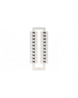 Oznacznik do złączek szynowych 2, 5-70mm2 /PE/ biały 43192 (20szt.)