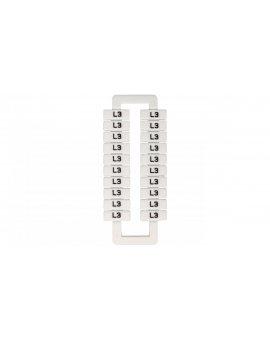 Oznacznik do złączek szynowych 2, 5-70mm2 /L3/ biały 43192 (20szt.)