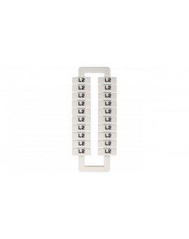 Oznacznik do złączek szynowych 2, 5-70mm2 /L2/ biały 43192 (20szt.)
