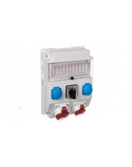 Rozdzielnica 1x32A 5P/ 1x16A 5P 2x250V okienko wyłącznik L-0-P IP54 ROS 11/X-21.2/L-0-P
