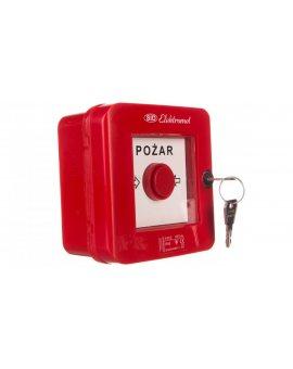 Ręczny ostrzegacz pożarowy z zamkiem 2Z 2R 12A IP55 WPZ-4s 921462
