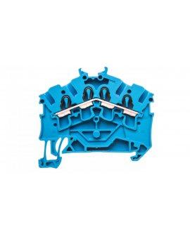 Złączka szynowa 4-przewodowa 2, 5mm2 niebieska 2002-6404 TOPJOBS